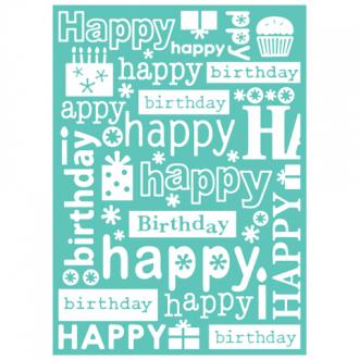 "Cuttlebug Embossing Folder, Happy Birthday - 5"" x 7"""