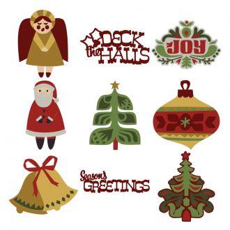 Scandinavian Christmas Cards Digital Set