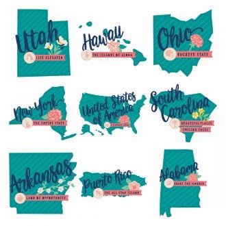 Digital Image Set, Close To My Heart - Hello USA