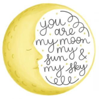 Iron-On Designs™, You Are My Moon (LG)