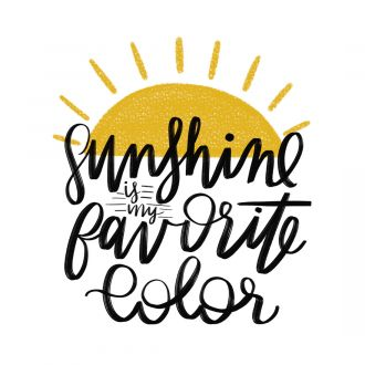 Iron-On Designs™, Sunshine Is My New Favorite Color (LG)