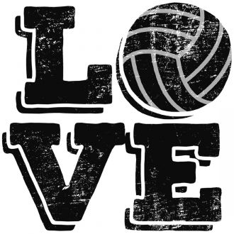 Iron-On Designs™, Love Volleyball (LG)