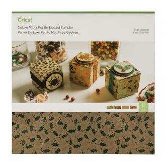 Deluxe Paper Foil Embossed Sampler, Kraft Seasonal