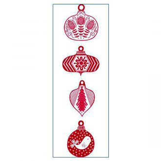 Iron-On Designs™, Red Ornaments (SM)