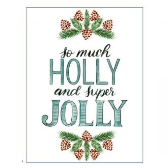 Iron-On Designs™, Holly Jolly (LG)