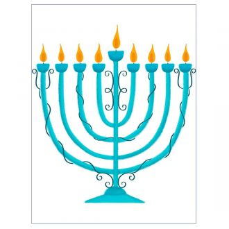 Iron-On Designs™, Menorah (LG)