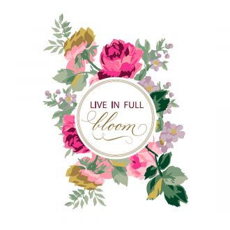 Cricut  Iron-On Designs™, Anna Griffin® Live in Full Bloom (LG)