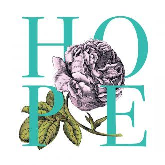 Cricut Iron-On Designs™, Anna Griffin® Hope Rose (LG)