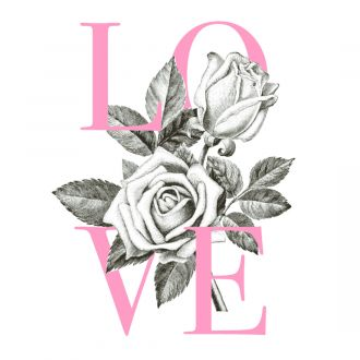 Cricut Iron-On Designs™, Anna Griffin® Love Rose (LG)