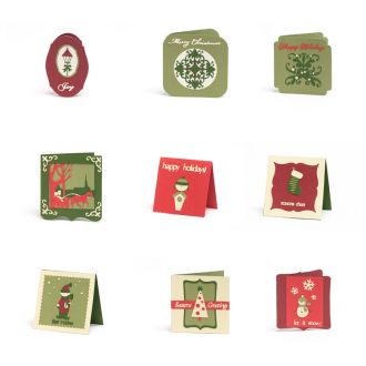 Christmas Cards Digital Set