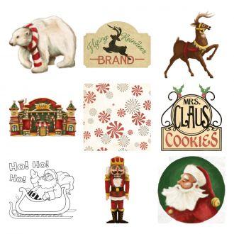 Santa's Village Digital Set