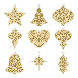 Quilted Ornaments Digital Set