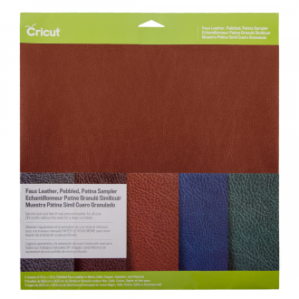 Cricut® Faux Leather - Pebbled, Patina Sampler