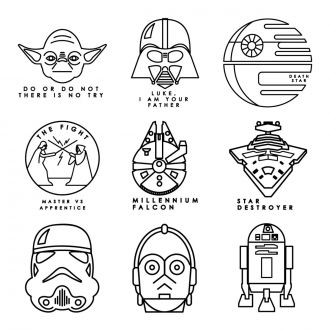 Digital Image Set, Star Wars™ - Galactic Line Art