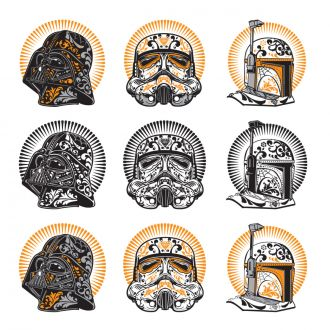 Digital Image Set, Star Wars™ - Halloween Sugar Skulls