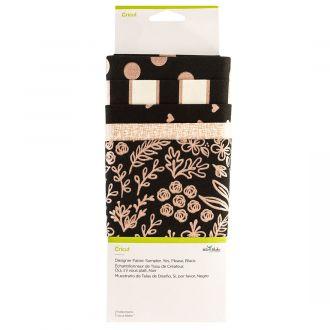 Designer Fabric Sampler, Yes, Please, Black
