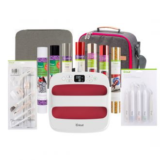 "Cricut EasyPress™ 2, Raspberry - 9"" x 9"" + Everything Iron-On Bundle"