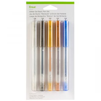 Glitter Gel Pen Set, Basics (5 ct.)