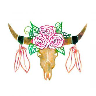 Iron-On Designs™, Rose Bull Head (LG)