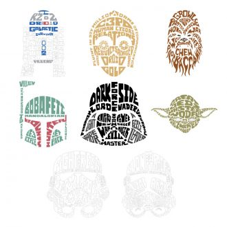Digital Image Set, Star Wars™ - Typography Art