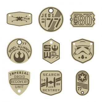Digital Image Set, Star Wars™ - Infantry Tags