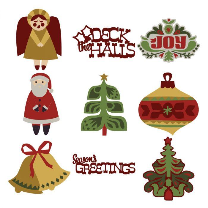 Digital Christmas Cards.Scandinavian Christmas Cards Digital Set
