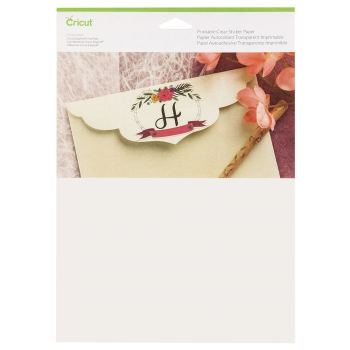 image relating to Clear Printable Paper referred to as Printable Apparent Sticker Paper