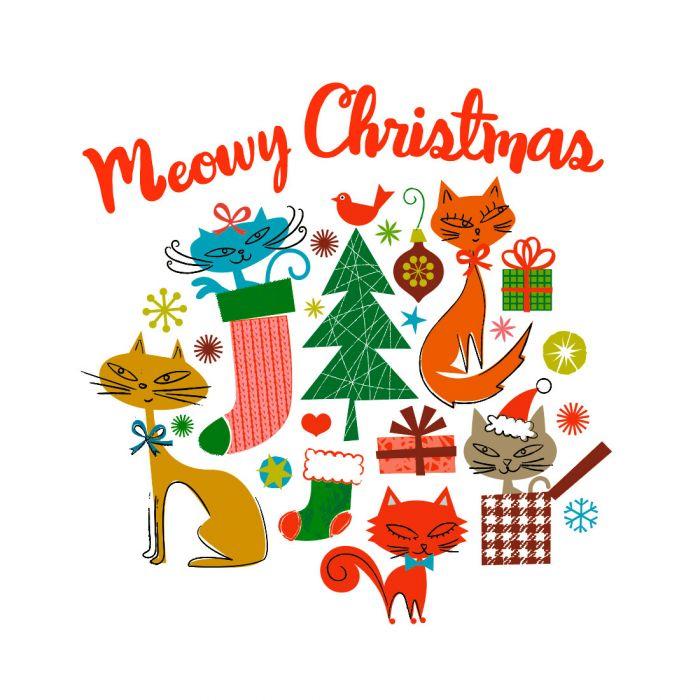 Meowy Christmas.Iron On Designs Rob Bob Meowy Christmas Lg