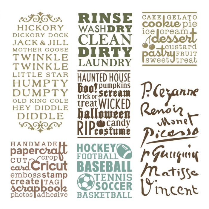Word Collage Digital Set