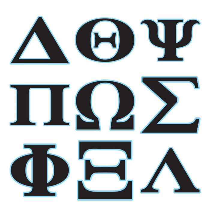picture relating to Printable Greek Letter Stencils for Shirts identified as Greek Alphabet Electronic Mounted