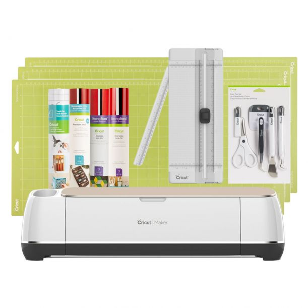 Cricut Maker® + Essentials Bundle, Champagne